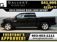 2014 DODGE RAM SPORT CREW *EVERYONE APPROVED* $0 DOWN $229/BW!