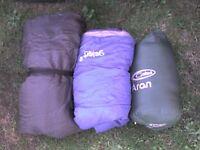 3 Single Bags + a FREE Double Sleeping Bag