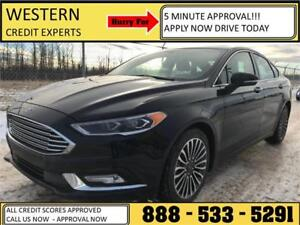 2017 Ford Fusion SE AWD ~ Lo Kms ~ Leather ~ Sunroof $168 B/W