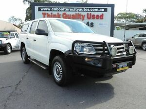 2012 Volkswagen Amarok 2H MY12.5 TDI420 4Motion Perm White 8 Speed Automatic Utility Caboolture South Caboolture Area Preview