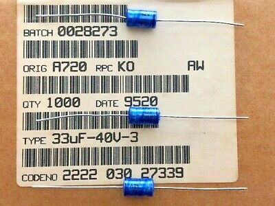 100 Stck Elko Philips Axial 33uf 40v  2222 030 27339