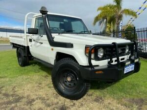 2004 Toyota Landcruiser HZJ79R White 5 Speed Manual Cab Chassis Wangara Wanneroo Area Preview