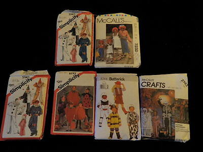 Children's Halloween Costume Sewing Pattern Lot 6p Boy Girl Four are Uncut  P21