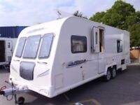 2010 Bailey Pegasus 624 FIXED BED Twin Axle inc Awning and Motor Mover.