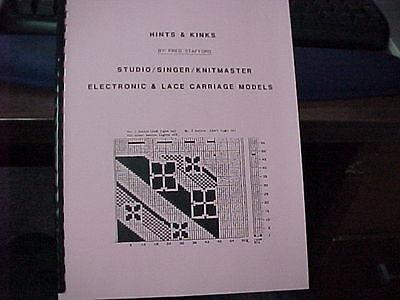 Hints & Kinks for Singer/Studio Electronic Machines