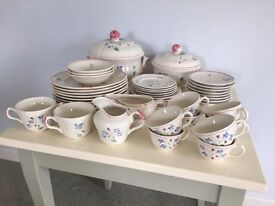 Set of hand painted china