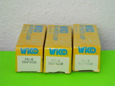 3x New Wiko Avphoto Lamp Fal-5 Projector Light Bulb 420w 125v Lot Of 3