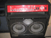 swr super red head 350w bass combo.