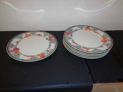 "Lot of 6 Rosenthal Versace Hot Flowers Salad/Dessert Porcelain Plates Mint (9.5"""