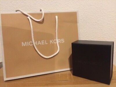 Michael Kors Brown Jewelry Gift Box Bag Set Brand New Authentic