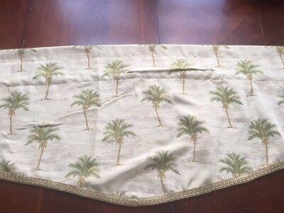 Valance Tapestry -  Palm tree Tapestry Valance Rod Pocket Window Valance