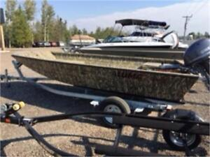 2019 AlumaCraft Waterfowler 16' w Yamaha 30 & Galvanized Trailer