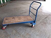 6 Heavy duty stackable Flatbed Trolleys for sale