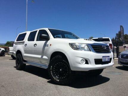 2013 Toyota Hilux KUN26R MY12 SR (4x4) Glacier White 4 Speed Automatic