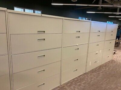 5dr 42w X 18d Lateral File Cabinet By Steelcase Office Furniture Wlock Key