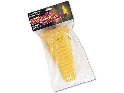 Master Caster Giant Foot Magnetic Doorstop, No-Slip Rubber Wedge, Yellow 00967