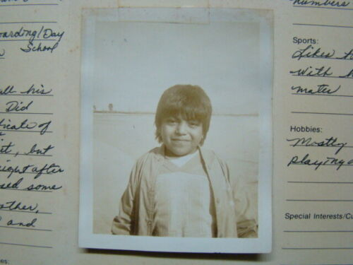 Papago Indian Reservation Tucson AZ Save the Children Photograph Progress Report