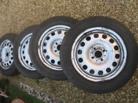 4 mini wheels and tyres 175 x 65 x 15