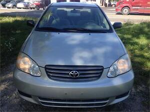 2004 TOYOTA COROLLA,PW, PL, AC, CERTIFIED AND E-TEST
