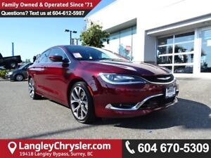 2016 Chrysler 200 C *ACCIDENT FREE*ONE OWNER*LOCAL BC CAR*
