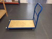 Heavy Duty Platform Truck Trolley Hand Cart Flat Bed Warehouse Picking 500kg