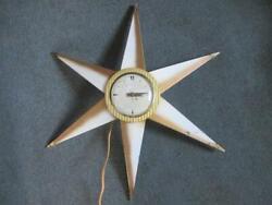 Bilt-Rite Mid Century Eames Era Sunburst Starburst Clock
