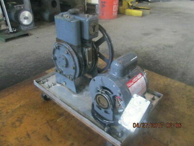 Welch Duo-seal Model 1405 Vacuum Pump Wdayton 12 Hp Electric Motoras-pictured