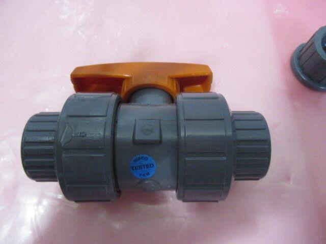 "FNW FNW340EF 3/4"" PVC True Union Ball Valve, 450712"