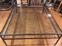 Habitat glass coffee table £75 ono