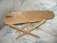 "VINTAGE FOLK ART WOODEN CHILD'S IRONING BOARD 11""H, WOOD PEGS"