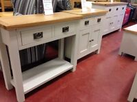 LAST DAY Sunday 1-3 pm EVERYTHING REDUCED including all NEW Hall Console Tables 30+ to choose from