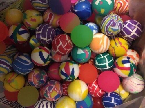 100 MIXED 27MM SUPERBALLS, HIGH BOUNCE VENDING BALLS, SUPER BOUNCY CARNIVAL BALL