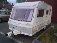 ABBEY EXECUTIVE PIPER 14FT 4 BERTH WITH FULL AWNING