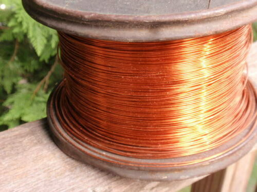 VINTAGE G.E.FORMEX COPPER MAGNET WIRE  FULL SPOOL   9 LBS