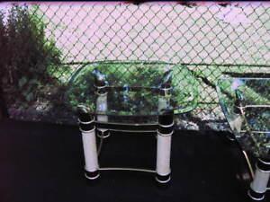 2 Table de salon vitre trempé