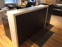 Reception Desk with Cesar Stone counter - almost new