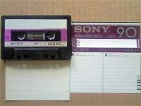 A2Z RARE GUARANTEED SONY UCX 90 PREMIUM CHROME CASSETTE TAPES 1982-84 W/ CCLs & FREE P&P