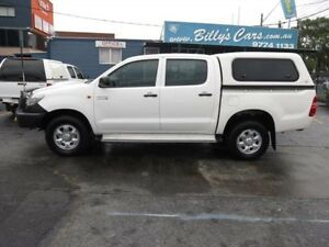 2012 Toyota Hilux KUN26R MY12 SR (4x4) White 5 Speed Manual Dual Cab Pick-up Condell Park Bankstown Area Preview