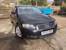 AUDI A3 SPORT 3DR 1.6 PETROL 2003 - FSH , RECENTLY SERVICED + ALL BRAKES CHANGED