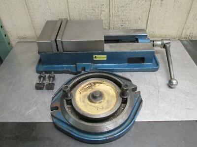 Interstate 8 Machinist Drill Press Milling Machine Vise Swivel Base Kurt Style