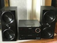Phillips CD microsystem. CD. MP3. Radio. Bluetooth. Plus remote control.