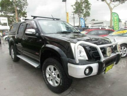 2007 Holden Rodeo RA MY07 LT Black 4 Speed Automatic 4D UTILITY