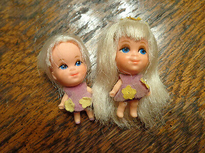VINTAGE LIDDLE KIDDLES LUCKY LOCKET 2 LILAC DOLLS