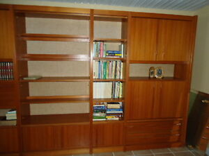 Eames Era, Teak, Denmark Wall Unit, Near new condition Williams Lake Cariboo Area image 2