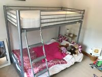 Single bunk bed with double futon couch/bed on bottom. £40