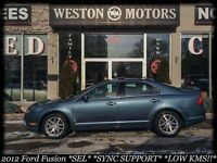 2012 Ford Fusion *SEL*SYNC SUPPORT*LOW KMS*LEATHER*SUNROOF*