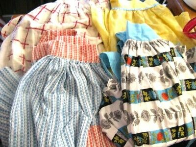 10 VINTAGE KITCHEN APRONS 1940'S 50'S 9 HALF APRONS 1 FULL 1940's 1950's 1960's