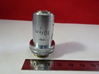 Leitz Germany Vintage Objective 10x 170 Optics Microscope Part F6-a-17