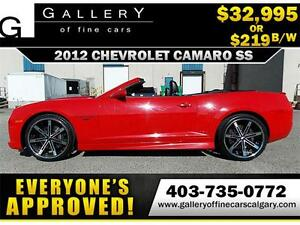 2012 Chevrolet Camaro SS $219 bi-weekly APPLY NOW DRIVE NOW