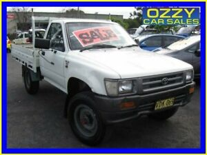 1993 Toyota Hilux LN106R (4x4) White 5 Speed Manual 4x4 Cab Chassis